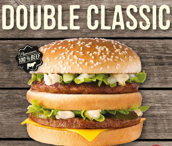 Dubbele Classic burger