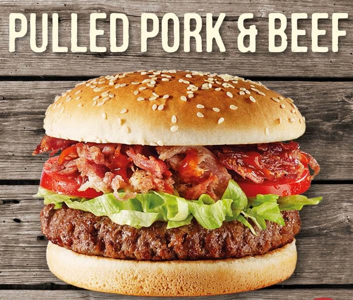 Beef Pull Pork Burger